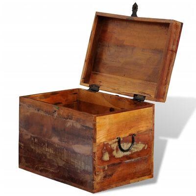 vidaXL Ladă de depozitare din lemn masiv reciclat