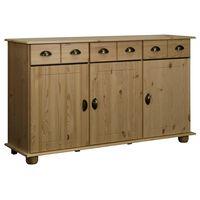 vidaXL Servantă, 134x39x79,5 cm, lemn masiv de pin
