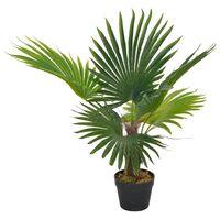 vidaXL Plantă artificială palmier cu ghiveci, verde, 70 cm