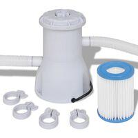 Pompă cu filtru pentru piscină 3028 L/h