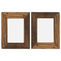 vidaXL Rame foto, 2 buc., 25 x 30 cm, lemn masiv reciclat și sticlă