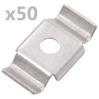 vidaXL Cleme de gard tip fluture, 50 buc., oțel inoxidabil