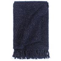 vidaXL Pătură decorativă, bleumarin, 220 x 250 cm, lurex