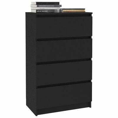 vidaXL Servantă, negru, 60 x 35 x 98,5 cm, PAL