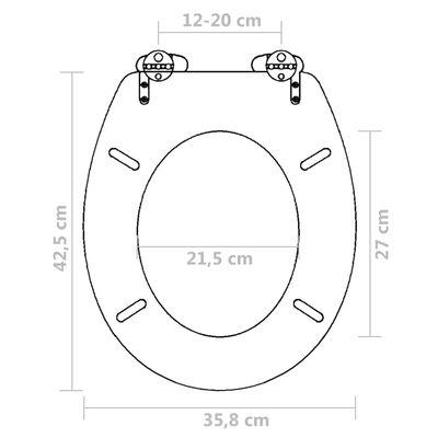 vidaXL Capac WC cu închidere silențioasă maro MDF design simplu