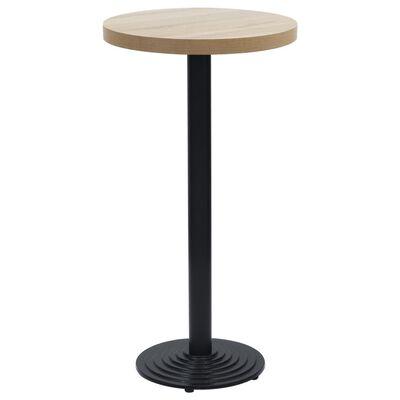 vidaXL Picior masă de bistro, negru, Ø43x107 cm, fontă