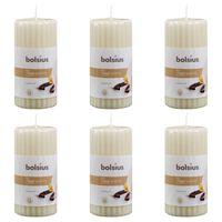 Bolsius Lumânări parfumate striate, 6 buc., vanilie, 120 x 58 mm