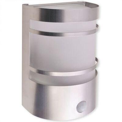 vidaXL Felinar de perete pentru exterior cu senzor, oțel inoxidabil