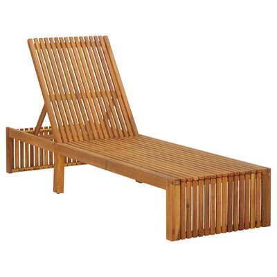 vidaXL Șezlong de plajă, lemn masiv de acacia