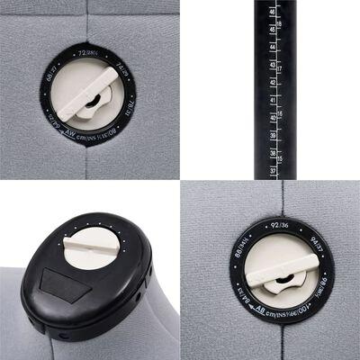 vidaXL Formă pentru rochie femeie reglabilă gri, dimensiune S 33-40, Gri