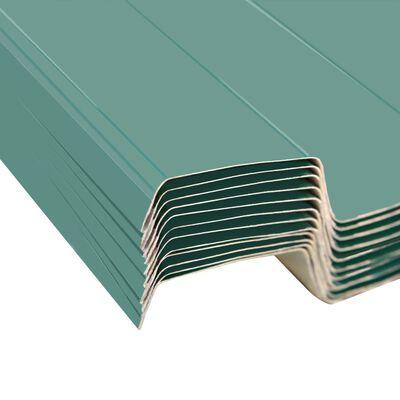 vidaXL Panouri pentru acoperiș, oțel galvanizat, verde, 12 buc.