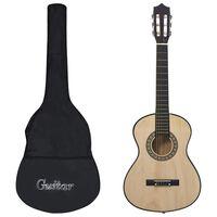"""vidaXL Set chitară clasică pentru copii/începători 8 piese 1/2 34"""""""