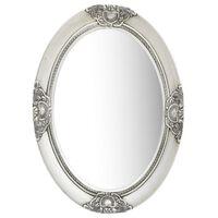 vidaXL Oglindă de perete în stil baroc, argintiu, 50 x 70 cm