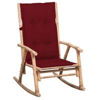 3063927 vidaXL Rocking Chair with Cushion Bamboo (41894+314260)