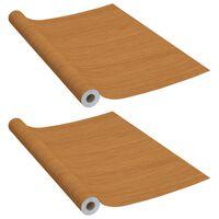 vidaXL Folie de mobilier autoadezivă, stejar deschis, 500 x 90 cm, PVC