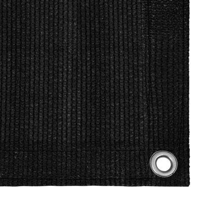 vidaXL Covor pentru cort, negru, 250x350 cm