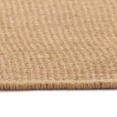 vidaXL Covor de iută cu spate din latex, 160 x 230 cm, natural