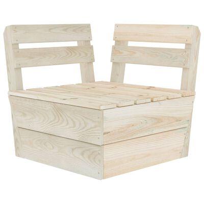 vidaXL Set de grădină din paleți, 9 piese, lemn de molid tratat