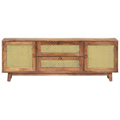 vidaXL Comodă TV, 130 x 30 x 52 cm, lemn masiv de mango