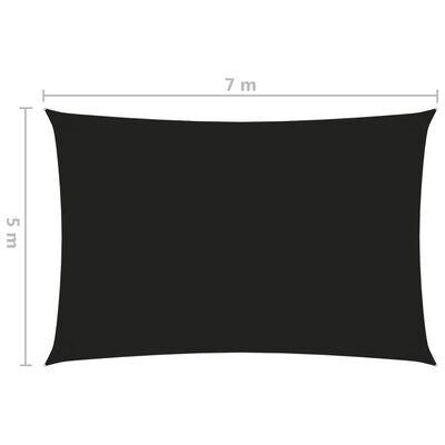 vidaXL Pânză parasolar, negru, 5x7 m, țesătură oxford, dreptunghiular
