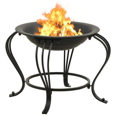 vidaXL Vatră de foc cu vătrai 49 cm oțel