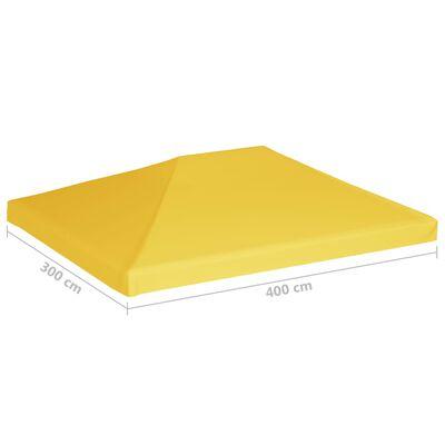 vidaXL Acoperiș de pavilion, 270 g/m², galben, 4 x 3 m
