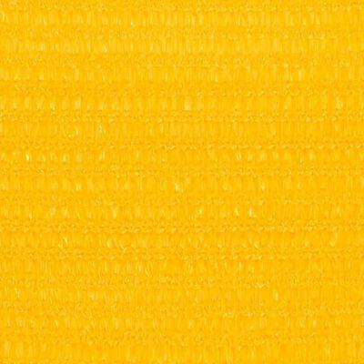 vidaXL Pânză parasolar, galben, 3/4x3 m, HDPE, 160 g/m²