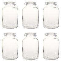 vidaXL Borcane din sticlă cu închidere ermetică, 6 buc., 5 L