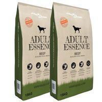 vidaXL Hrană uscată pentru câini Adult Essence Beef 2 buc. 30 kg