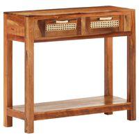vidaXL Masă consolă, 86 x 30 x 76 cm, lemn masiv reciclat
