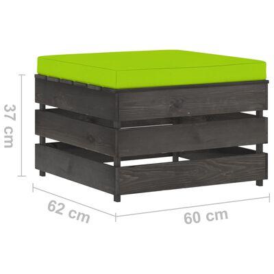 vidaXL Set mobilier grădină cu perne, 3 piese, lemn verde tratat