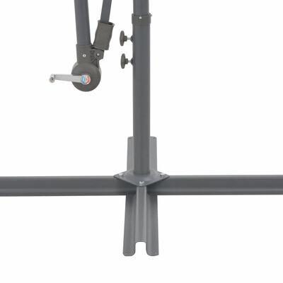 vidaXL Umbrelă suspendată, stâlp din aluminiu, 350 cm, teracota