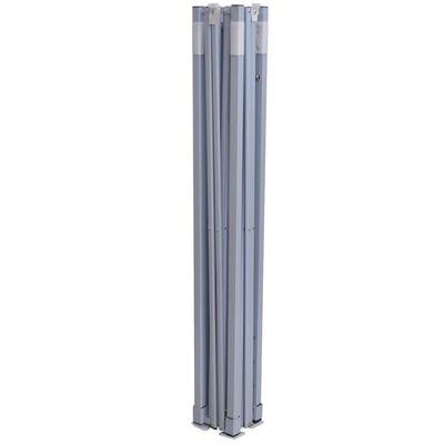 vidaXL Cort de petrecere pliabil cu 2 pereți, crem, 2 x 2 m, oțel