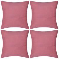 Huse de pernă din bumbac, 80 x 80 cm, roz, 4 buc.