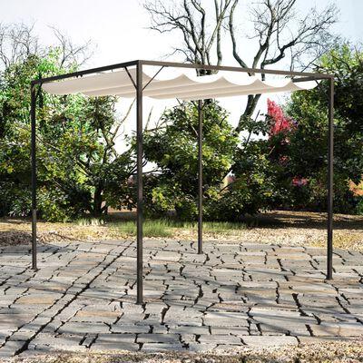 vidaXL Foișor de grădină cu acoperiș baldachin retractabil