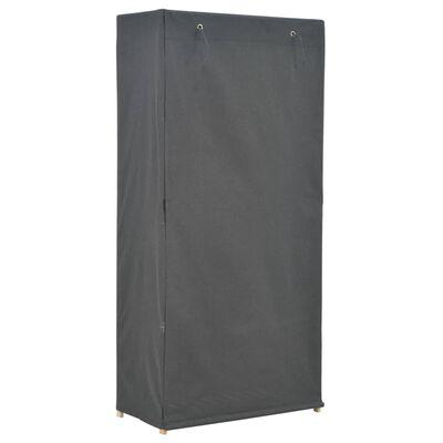 vidaXL Șifonier, gri, 79 x 40 x 170 cm, material textil