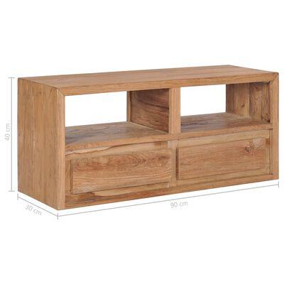 vidaXL Comodă TV, 90 x 30 x 40 cm, lemn masiv de tec