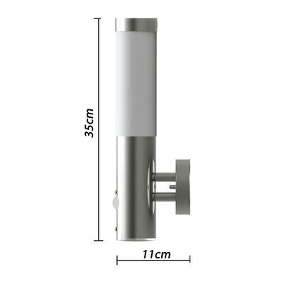 vidaXL Lampă de perete exterior cu senzor de mișcare, oțel inoxidabil