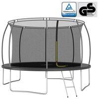 vidaXL Set trambulină rotundă, 366x80 cm, 150 kg