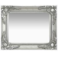 vidaXL Oglindă de perete în stil baroc, argintiu, 50 x 40 cm