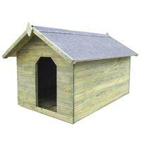 vidaXL Cușcă câine de grădină, acoperiș detașabil, lemn pin tratat