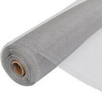 vidaXL Plasă de sârmă, argintiu, 100 x 500 cm, aluminiu