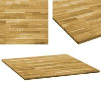 vidaXL Blat de masă, lemn masiv de stejar, pătrat, 23 mm, 80x80 cm