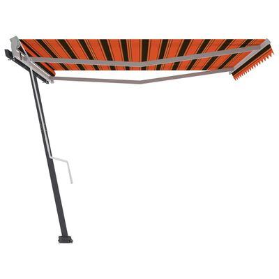 vidaXL Copertină autonomă retractabil manual portocaliu/maro 400x300cm