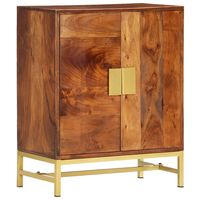 vidaXL Servantă, 60 x 35 x 75 cm, lemn masiv de acacia