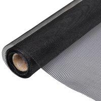 vidaXL Plasă de sârmă, negru, 100 x 500 cm, fibră de sticlă