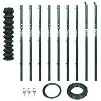 vidaXL Gard plasă de sârmă cu stâlpi, verde, 1,97 x 15 m