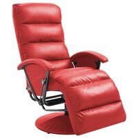vidaXL Fotoliu TV rabatabil, roșu, piele ecologică