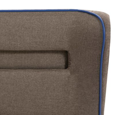 vidaXL Pat cu LED și saltea, gri taupe, 180 x 200 cm, material textil