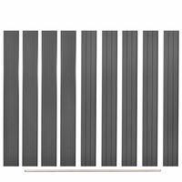 vidaXL Plăci de schimb pentru gard, 9 buc., gri, 170 cm, WPC